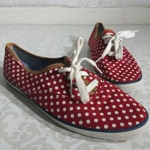 3/$25 Keds Red & White Polka Dot Sneakers Sz 8